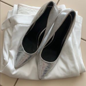 Kendall + Kylie Silver Myra Pointed Toe Pump